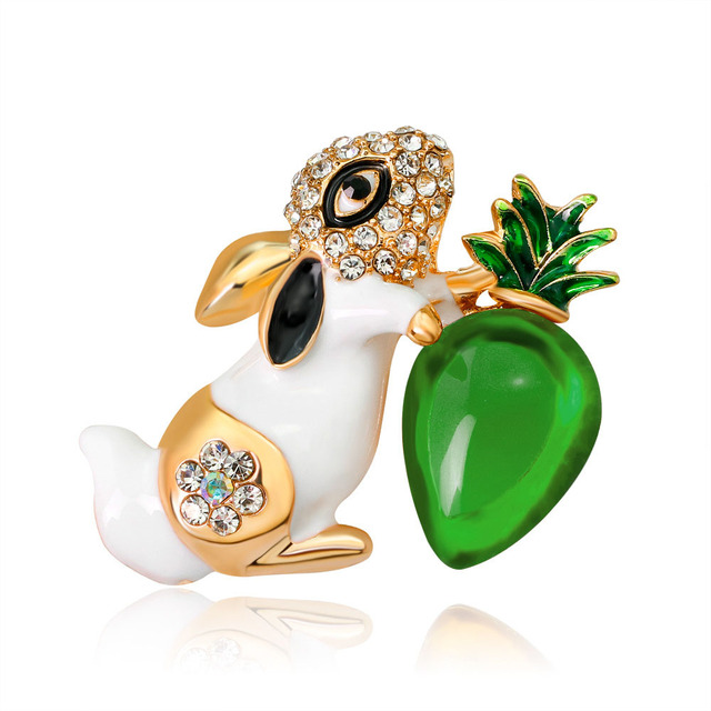 CINDY XIANG 2 Colors Choose Small Bunny Brooches for Women Fashion Enamel Animal