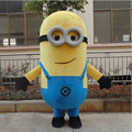 High quality Despicable Me 2 Mascot Costume Despicable me minion Costume mascot fancy Cartoon costume Free Shipping