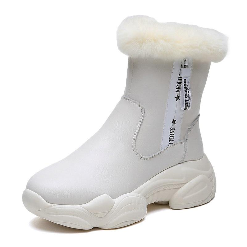 Plataforma Caliente Nuevo Botas Llegado 2018 Más Tobillo Señoras Lluvia Zapato Cómodos Mujeres Mujer Plano Cremallera De Negro Invierno Las blanco Popular Tacón Zapatos FzvxxAqd