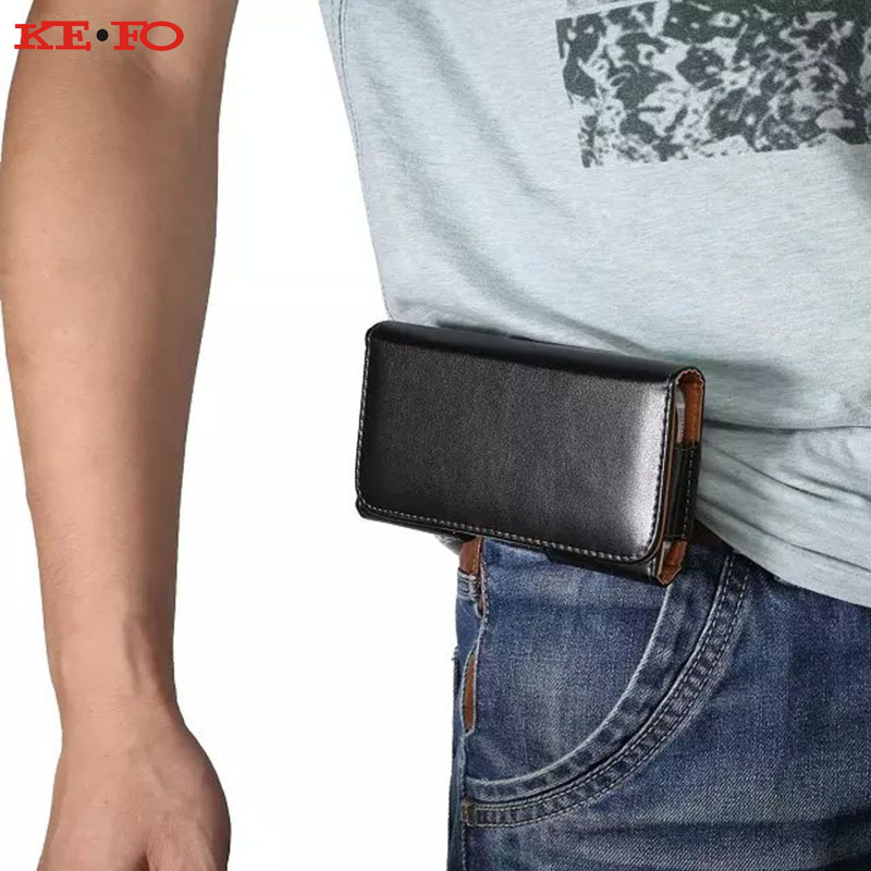 KEFO Belt Clip Holster PU Leather Pouch For Doogee X7 Pro Universal Waist Case Cover For Doogee X3 X5 Max X5 X6 X7 Pro F5 Coque