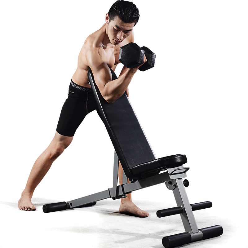 Weider free installation of multi-functional folding dumbbell bench sit-ups home fitness equipment wave shape sit ups abdomenizer home fitness equipment multifunctional health web