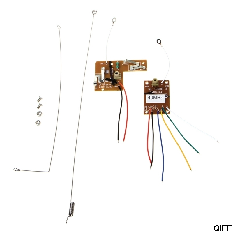 Drop Ship&Wholesale 4CH <font><b>40MHZ</b></font> Remote Transmitter & Receiver Board with Antenna for DIY RC Car Robot May06 image