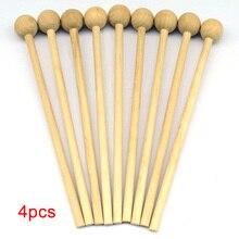 4 шт деревянные перкуссионные палочки игрушка инструмент палочки для еды молоток музыкальный подарок ручка DIY