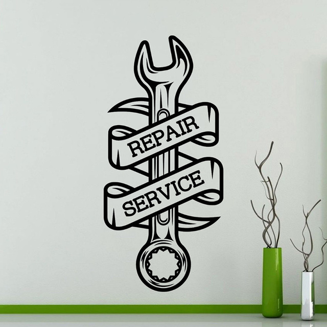 Car Repair Service Wall Sticker Home Decor Living Room Car Workshop