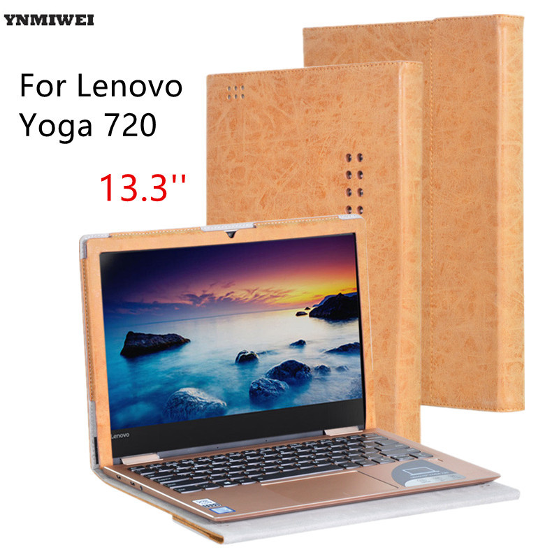 купить Leather Case For Lenovo YOGA 720 Luxury Stand Holder Flip Cover For Yoga720 13.3'' Tablet PC and Keyboard Protective Shell недорого