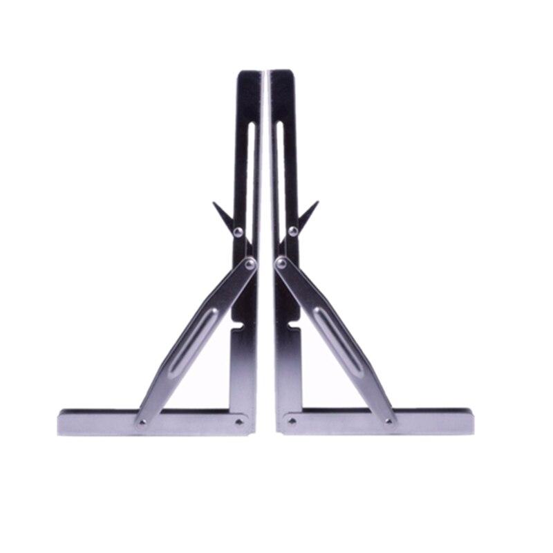 2 Pieces STAINLESS STEEL FOLDING SHELF BENCH TABLE BRACKET 250KG LOAD HEAVY DUTY