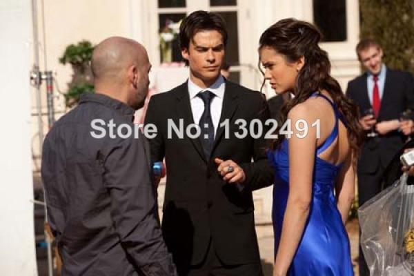 Nina Dobrev Blue Prom Dress In Vampire Diaries Miss Mystic Falls 4-600x600