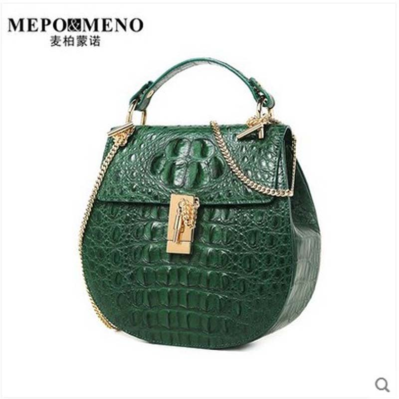 maibomengnuo Authentic crocodile leather women bag new simple fashion ladies handbag chain single shoulder women bag yuanyuqiiandian thai crocodile female bag imported crocodile leather single shoulder bag ladies fashion women long chain bag