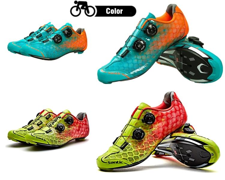 22e35ac18bd20 2019 Santic 10 Grade Carbon Fiber Cycling Shoes Men Ultralight Road ...