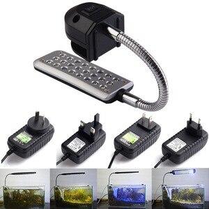 Hight Quality 24 LEDs Aquarium Fishbowl Clip Light Lamp For Coral Reef aquatic animals Free Shpping FG