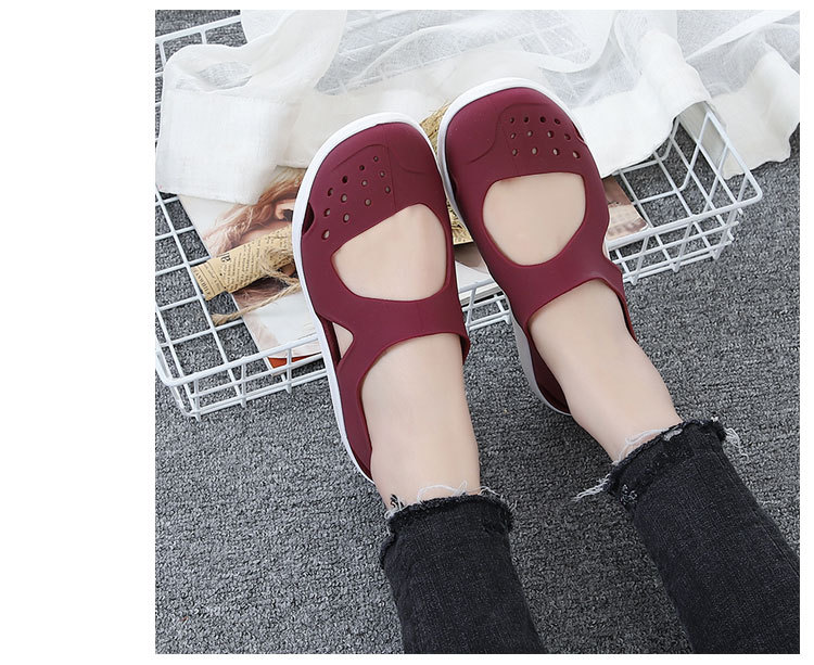 HTB1EbdZbsfrK1RkSmLyq6xGApXaZ - Women's Sandals Fashion Lady Girl Sandals Summer Women Casual Jelly Shoes Sandals Hollow Out Mesh Flats Beach Sandals