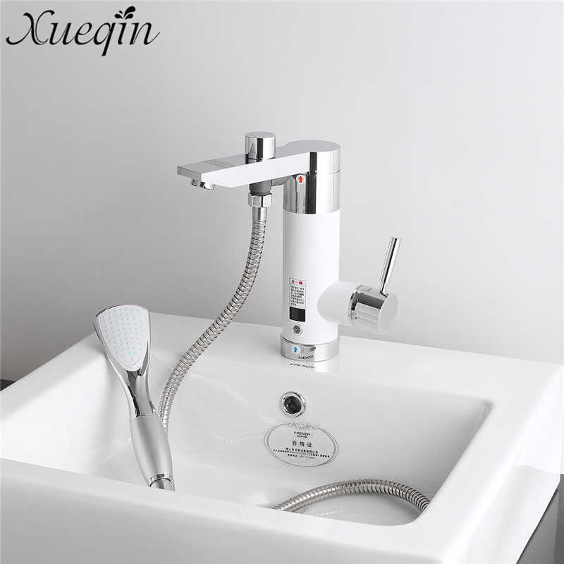 Xueqin Cold/Hot Mixer Tap Bathroom 360 Rotatable Instantly Electric Water Heater Deck mo ...