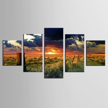 5 Panel Modern Printed Canvas Oil Painting Pastoral scenery Wall Picture For Living Room framed Style  NEW-XYS(64)