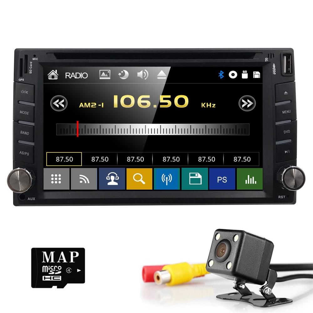 6.2 universal Autoradio 2 din Head Unit For Nissan x-trail juke qashqai Multimedia GPS Navigation Car Audio Stereo SWC Map Cam