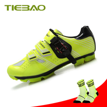 купить TIEBAO Cycling Shoes men sapatilha ciclismo mtb Shoes for Mountain Bike zapatillas deportivas hombre triathlon bicycle Shoes дешево