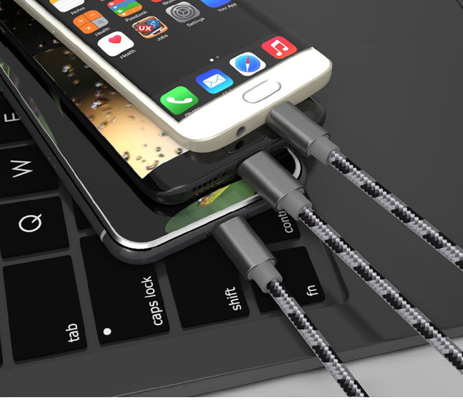 !ACCEZZ 3 in 1 USB Cable 2A Charging Line Micro USB Type C Lighting For iPhone XR XS MAX Charger Phone Cable For Samsung S9 S8  (17)