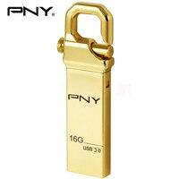 Pny usb flash drive usb 3.0 16 gb pendrive usb stick de metal GANCHO de oro Pen Drive Attache 3.0 personalidad diy logoFor car audio mp3