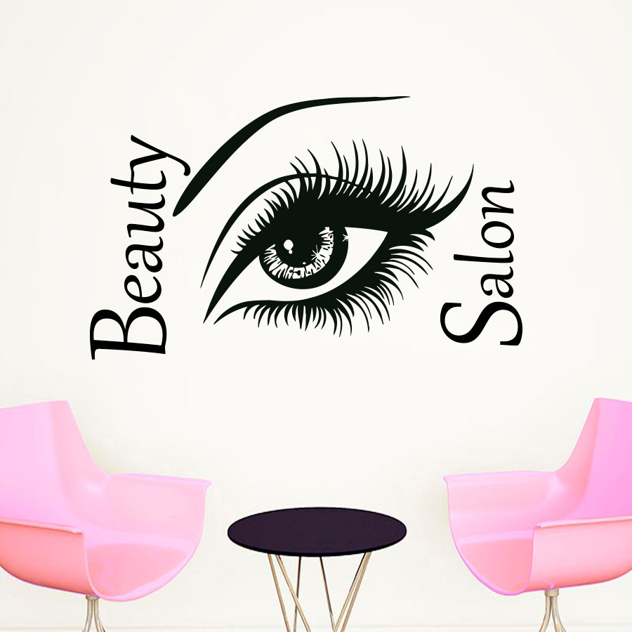 Eyes wall stickers wow modern beauty salon valentine wall decoration - Dctop Top Selling Beautiful Big Eye Wall Sticker Beauty Salon Diy Home Decor Vinyl Self Adhesive