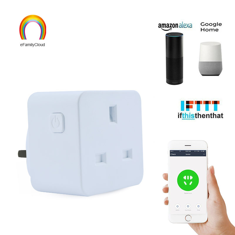 Smart Socket WiFi Mobile Phone Timing Control Small  Remote   Smart Home English