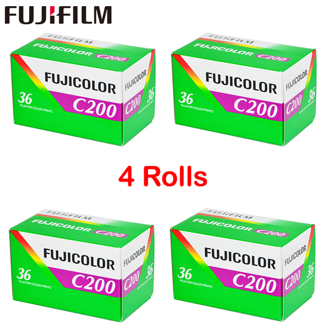 4 Roll/lot Fujifilm C200 Color 35mm Film 36 Exposure for 135 Format Camera Lomo Holga 135 BC Lomo Camera Dedicated