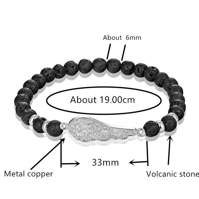 Фото женский браслет из вулканического камня с бусинами 6 мм 4 цвета цена