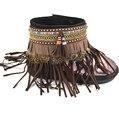 Sandalias descalzas tornozeleira Descalzo tobillera estilo Hippie de Boho Gypsy Tobillera pulseras pulseras tobilleras Tobillera borla de cuero