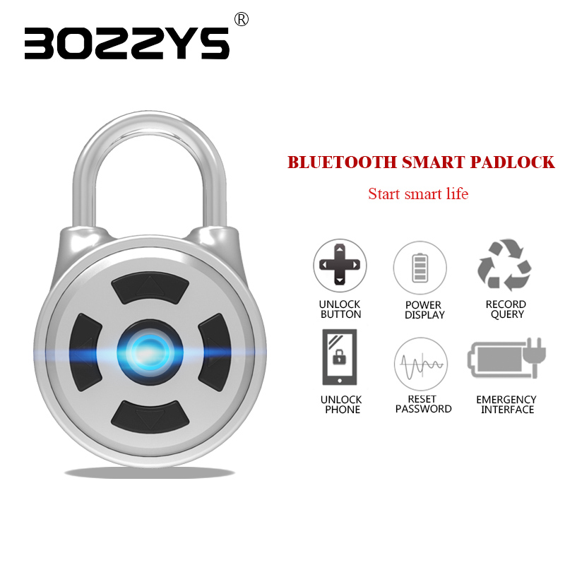 Smart Bluetooth password padlock home security lock dormitory gym cabinet mobile phone APP one button to unlock small mini mobile phone