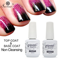 Saviland 15ml Base Coat & Top Coat Gel Nail Varnish Long Lasting Soak Off Semi Permanent Uv Led Gel Nail Lacquer