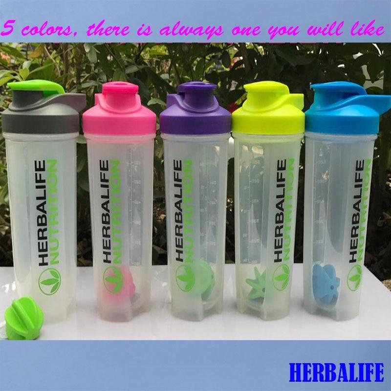 Neue Herbalife Smoothie Tasse Dicht Shaker Flaschen mit Skala 700 ml Mixer Tasse Hand Kaffee Sport Flasche