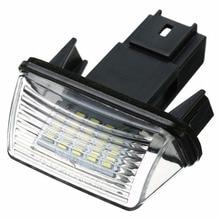 High Quality 1pc 18 LED Car License Plate Light 12V 6500k Lamp for Peugeot 206 207 307 308 Citroen C3 C4 C5 C6