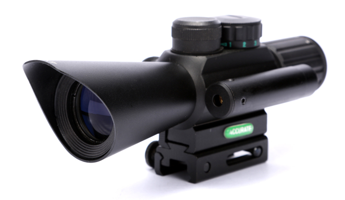 Free Shipping 4X30 M7 Red Green Mil-Dot Reticle Hunting Rifle Scope Side Mounted Airsoft Target Riflescope With Red Laser Sight