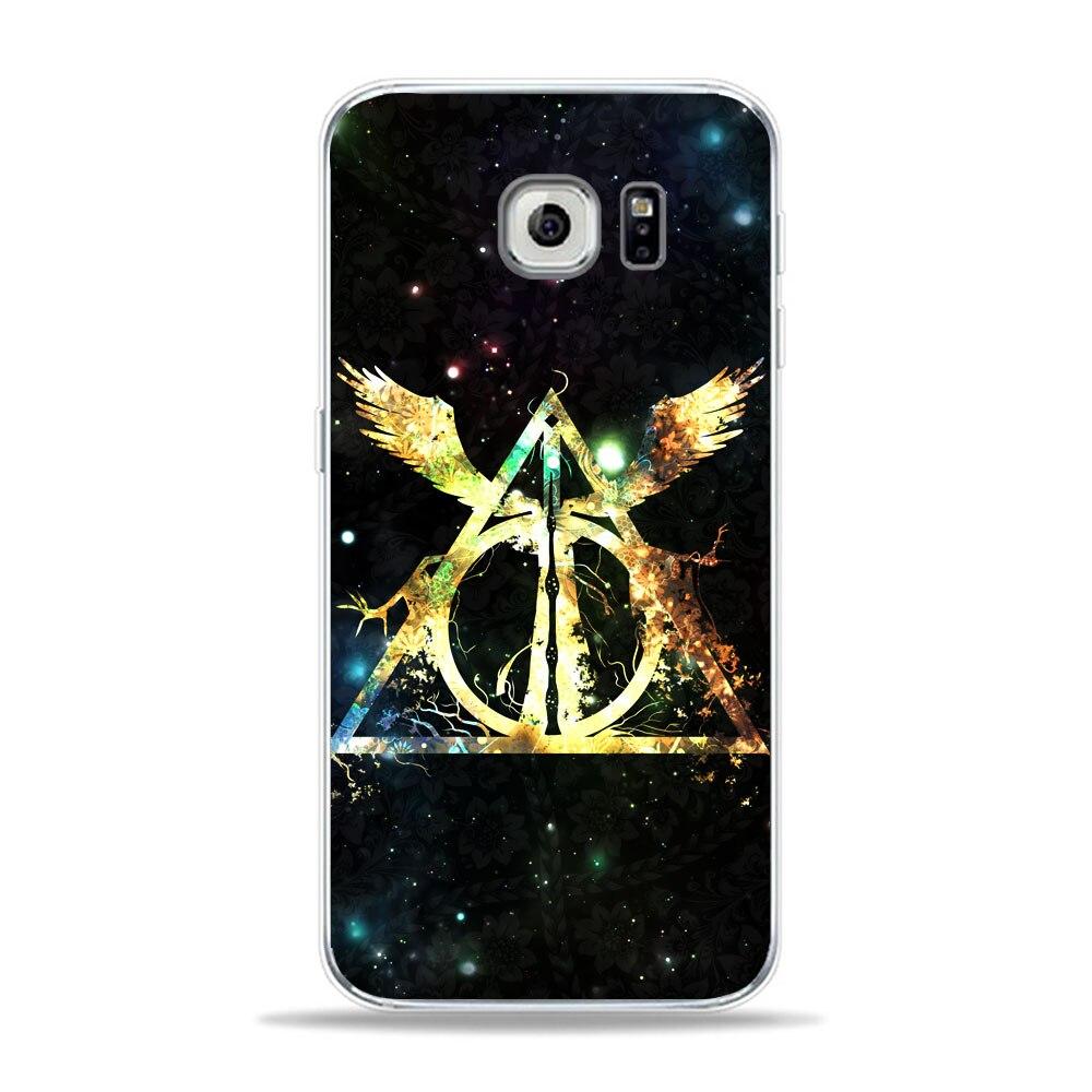 Harry Potter Logo Clip Art Always Symbol Phone Samsung A5 S6 S7 Edge S8 S9  Plus A6 J1 J5 Soft TPU Cover