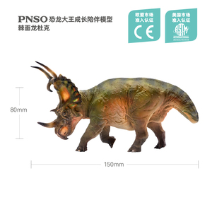Image 2 - PNSO Spinops Sternbergorum Simulated Dinosaur Statue Jurassic World Toy Model 1:35