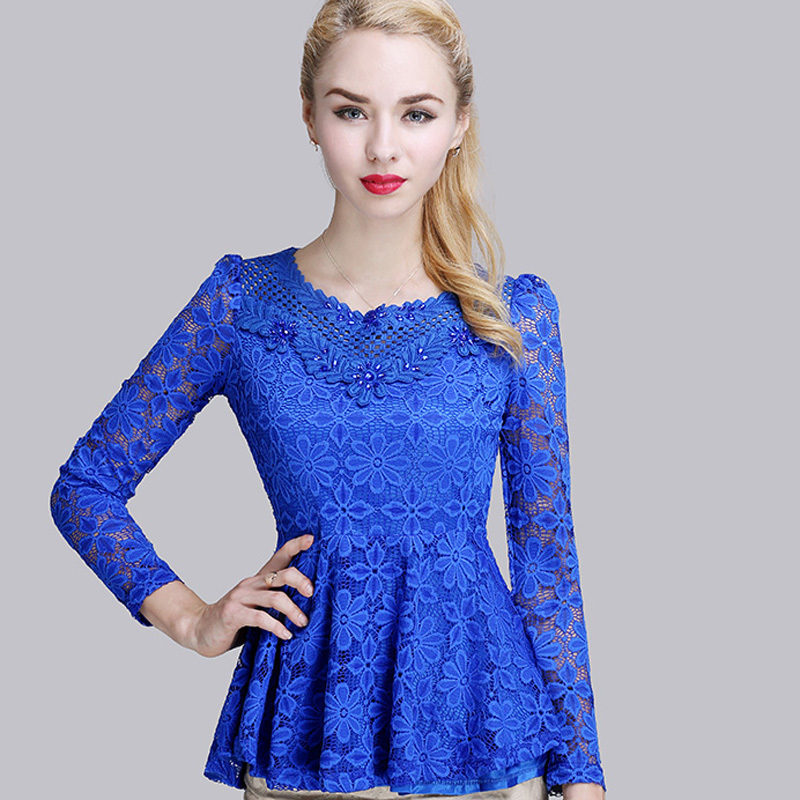 Fashion: Fashion Casual Women Lace Tops 2017 Spring New Sexy Hollow