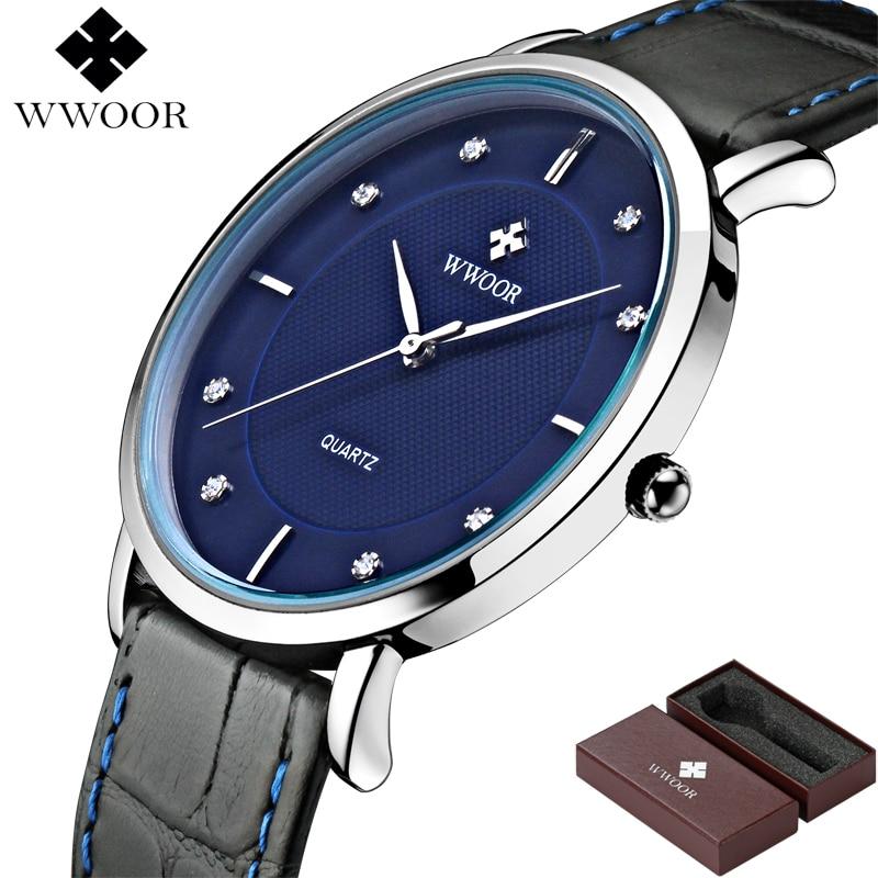 WWOOR Merk Luxe Herenhorloges Waterdicht Ultradun Eenvoudig Quartz - Herenhorloges - Foto 3