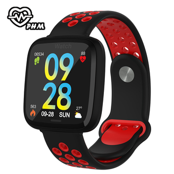 Colorful smart bracelet activity fitness tracker watch blood pressure monitor band Wristband health with intelligent measurement фото