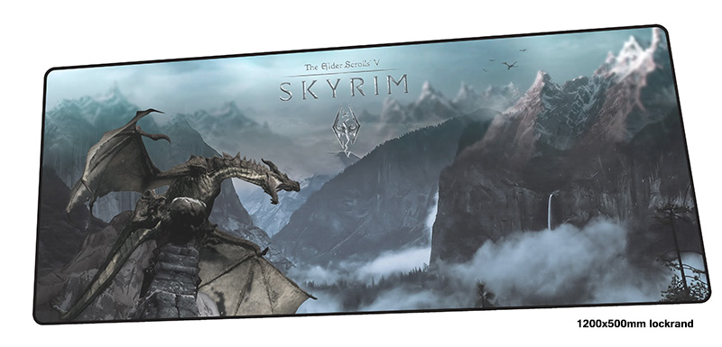 skyrim mousepad 1200x500mm Personality gaming mouse pad gamer mat Customized game computer desk padmouse keyboard play mats все цены
