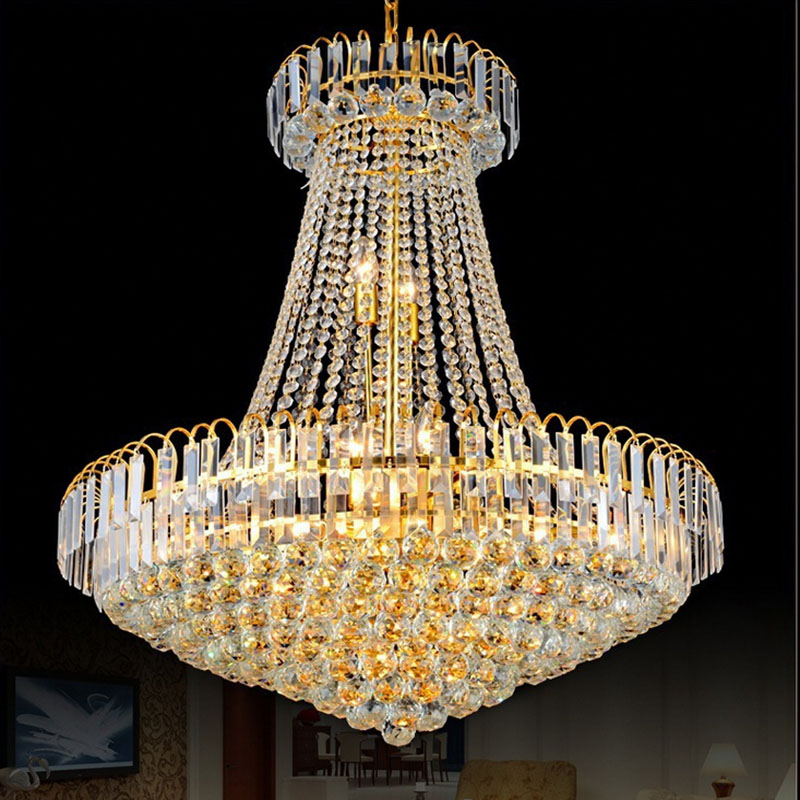 Royal empire silver crystal chandelier light french golden crystal royal empire silver crystal chandelier light french golden crystal hanging light diameter 60cm in chandeliers from lights lighting on aliexpress aloadofball Choice Image