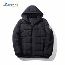 Covrlge 2017 Man's Coat 5XL Men Winter Casual New Hooded Solid Color Padded Jacket Zipper Slim Men Parka Outwear Warm MWM043