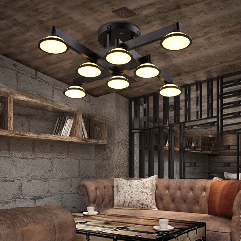 American modern brief vintage ceiling light bar counter personalized bedroom lights e27