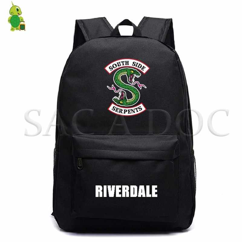 RIVERDALE South Side Fashion Backpack School Bags for Teenagers Women Men Laptop Backpack Kids Book Bags Casual Travel Rucksack