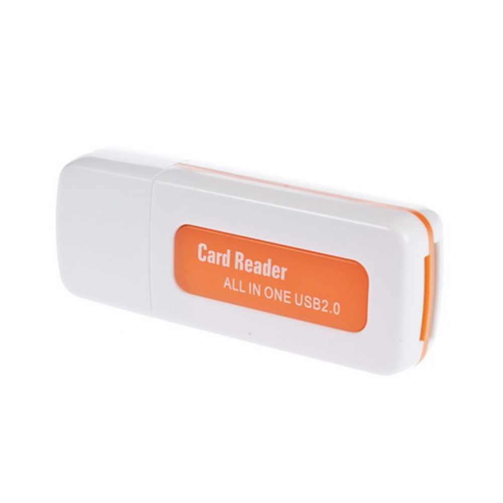 1 قطعة USB 2.0 4 في 1 الذاكرة قارئ بطاقات متعددة ل M2 ل SD SDHC DV مايكرو SD TF بطاقة الجملة البرتقال انخفاض الشحن