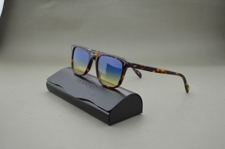 HOT!Custom dyed lens NDG-1-P sunglasses men and women Vintage square sunglasses with original case ...
