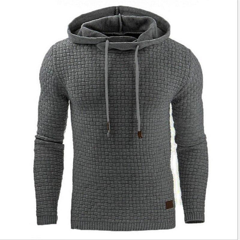 Hoodies Men 2018 Male Long Sleeve Solid Color grid Hooded Sweatshirt Mens Hoodie Tracksuit Sweat Coat Casual Sportswear fortnite