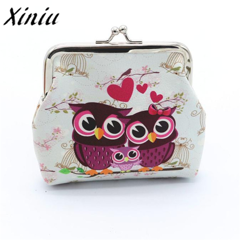 Hot Fashion Novelty Women Lady Retro Vintage Owl Small Wallet Hasp Purse Clutch Bag PU Leather Coin Purses portefeuille femme fashion girl change clasp purse money coin purse portable multifunction long female clutch travel wallet portefeuille femme cuir
