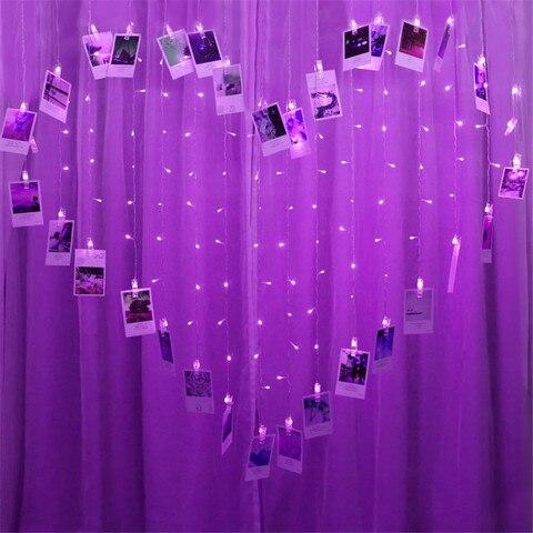 string guirlanda fundo da parede decoracao para casamento do natal