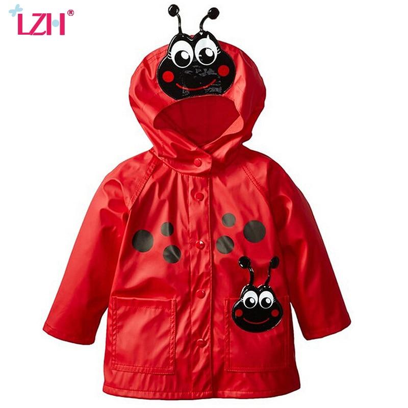LZH 2017 Autumn Winter Baby Boys Jacket For Girls Raincoat Coat Children Hooded Windbreaker Kids Outerwear