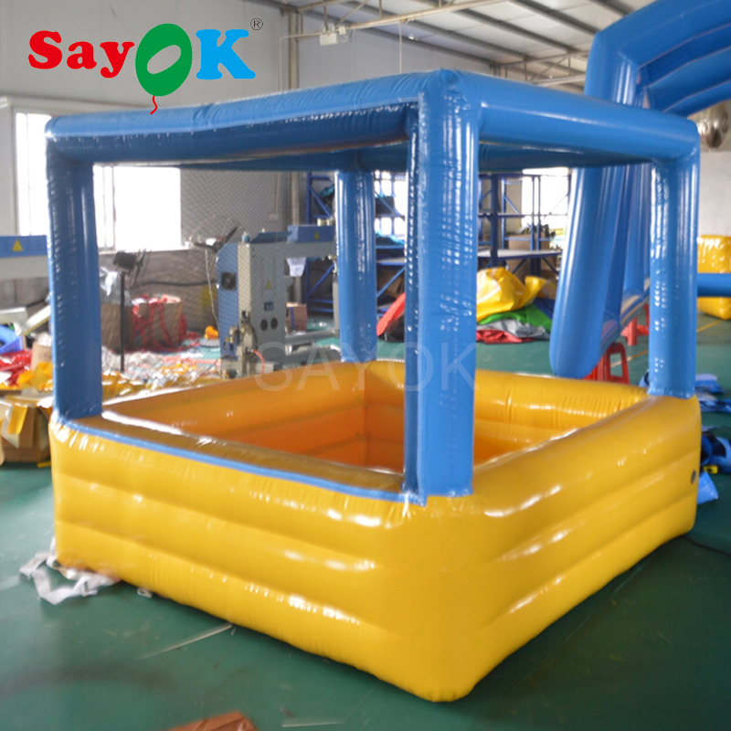 0.6mm PVC mini inflatable ball pool for children indoor inflatable game for kids