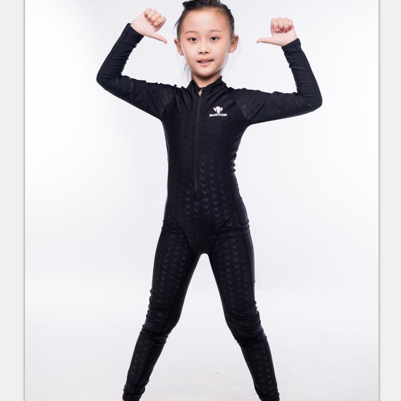 Shark Skin One piece Swimsuit Plus Size Swimwear Child 2017 Swim Competition Boy Bathing Suit Bodysuit Surfing Suits Wetsuit plus size scalloped backless one piece swimsuit