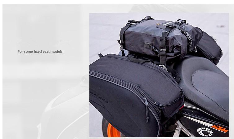 Sac pour siège arrière moto 3